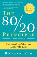 The 80 20 Principle  Third Edition PDF