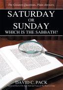 Saturday Or Sunday PDF