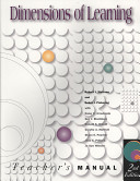 Dimensions of Learning Teachers Manual, 2nd Edition
