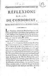 Réflexions de M. le marquis de Condorcet sur l'usufruit des bénéficiers
