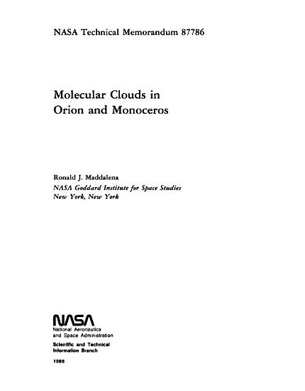 Molecular Clouds in Orion and Monoceros PDF