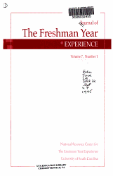 Journal of the Freshman Year Experience PDF