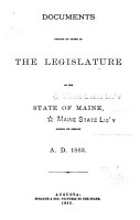 Documents Printed by Order of the Legislature of the State of Maine PDF