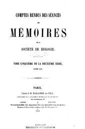 Comptes rendus hebdomadaires des seances et memoires de la Societe de biologie: Volume10