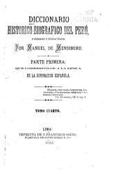 Diccionario historico-biografico del Peru: Volumen 4