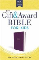 NIV Gift and Award Bible for Kids  Flexcover  Purple  Comfort Print PDF