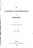 Die vorchristliche Unterblichkeitslehre PDF