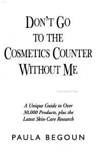 Don t Go to the Cosmetics Counter Without Me PDF