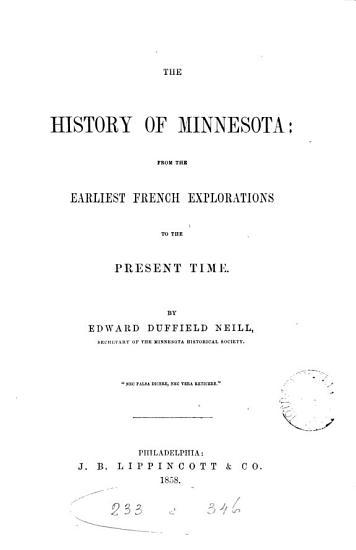 The History of Minnesota PDF
