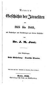 Geschichte der Israeliten seit der Zeit der Maccabaer bis auf unsre Tage: Band 10,Ausgabe 1