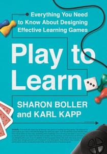 Play to Learn Book