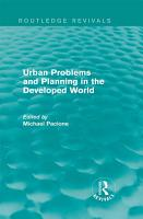 Urban Problems and Planning in the Developed World  Routledge Revivals  PDF