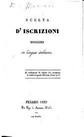 Scelta d'Iscrizioni moderne in lingua italiana