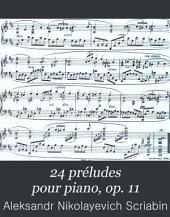 24 préludes pour piano, op. 11