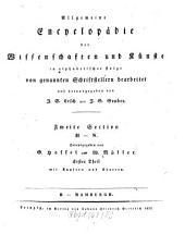 Allgemeine Encyklopädie der Wissenschaften und Künste: In alphabetischer Folge. ¬Section ¬2, H - N ; Theil 1, H - Hamburgh