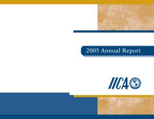 Informe anual IICA 2005   2005 Annual Report PDF