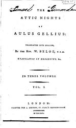 The Attic Nights Of Aulus Gellius Book PDF