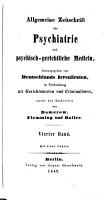 ALLGEMAINE ZEITSCHRIFT FUR PSYCHIATRIE UND PSYCHISCH GERICHTLICHE MEDICIN  PDF