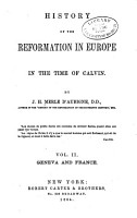 History of the Reformation in Europe in the Time of Calvin PDF