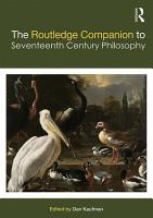 The Routledge Companion to Seventeenth Century Philosophy PDF