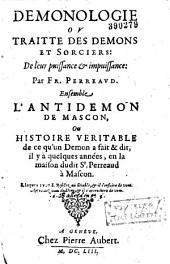 Demonologie, ou, Traité des demons et sorciers de leur puissance & impuissance
