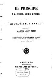 Il principe e gli opuscoli storici e politici ...