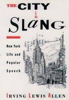 The City in Slang PDF
