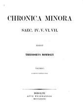 Chronica minora saec. IV. V. VI. VII.