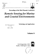 Proceedings of the     Thematic Conference on Remote Sensing for Marine and Coastal Environments PDF