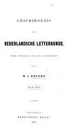 Geschiedenis der Nederlandsche Letterkunde     Tweede druk PDF