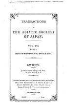 Transactions of the Asiatic Society of Japan: Volume 7