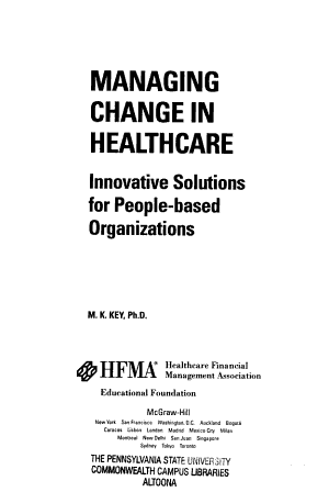 Managing Change in Healthcare PDF