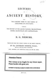 Lectures on Ancient History: Volume 3