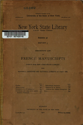 Descriptive List of French Manuscripts Copied for New York State Library from National Archives and National Library at Paris, 1888: Issue 5