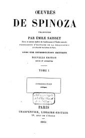 Œuvres de Spinoza: Volume1