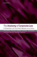 The Anatomy of Corporate Law PDF