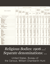 Religious Bodies: 1906 ...: Separate denominations: History, description, and statistics