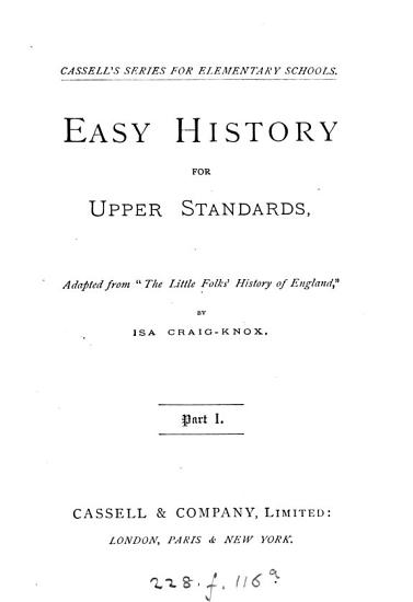 Easy history for upper standards  adapted from  The little folks  history of England   PDF