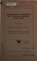 The Assassination of Representative Leo J  Ryan and the Jonestown  Guyana Tragedy PDF