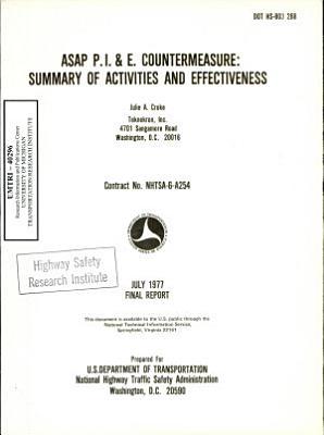 ASAP P I  E  Countermeasure  Summary of Activities and Effectiveness  Final Report PDF