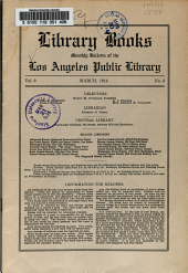 Library Books: Monthly Bulletin of the Los Angeles Public Library, Volume 9, Issue 3