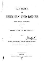 Das Leben der Griechen und Römer nach antiken Bildwerken
