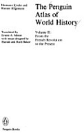 The Penguin Atlas of World History  From the French Revolution to the present PDF