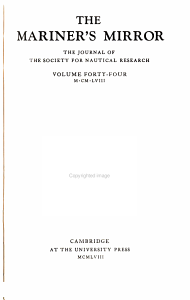 The Mariner s Mirror PDF