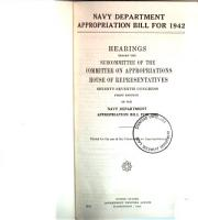 Navy Department Appropriation Bill for 1942 PDF