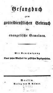 Gesangbuch zum gottesdienstlichen Gebrauch für evangelische Gemeinen0