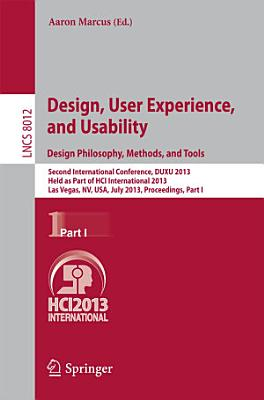 Design  User Experience  and Usability  Design Philosophy  Methods  and Tools PDF