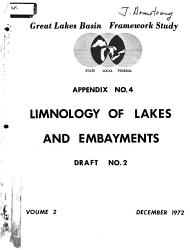 Great Lakes Basin Framework Study  Limnology of lakes and embayments PDF