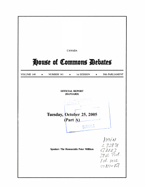 House of Commons Debates PDF