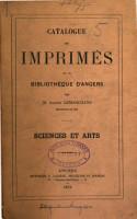 Catalogue des imprim  s de la biblioth  que d Angers PDF
